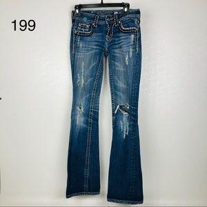 Miss Me Jeans Size 26 X 30 Distressed Medium Wash